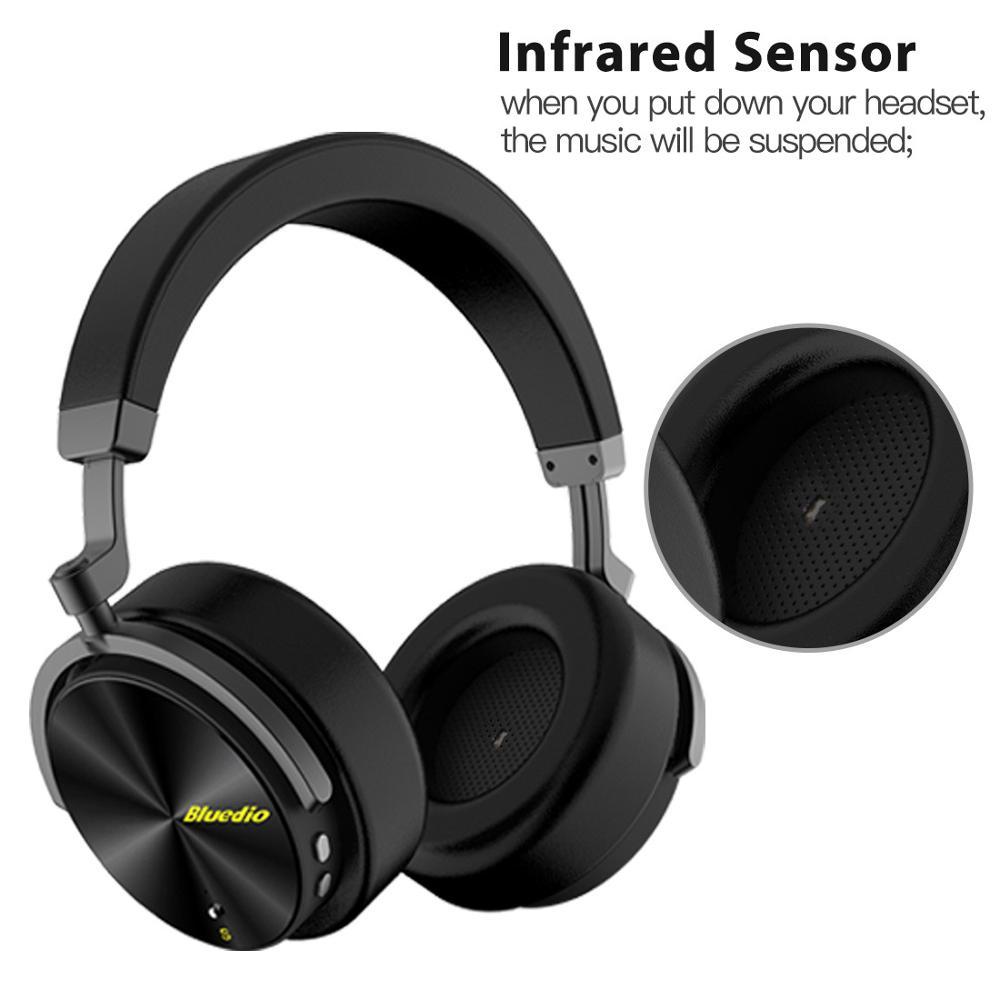 Bluedio T5 HiFi actif suppression de bruit casque sans fil bluetooth sur l'oreille casque avec microphone pour téléphones xiaomi huawei - 3