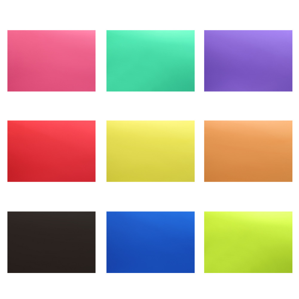 Neewer Correction Gel Light Filter Transparent Color 12x8.5 8 Sheet with 9 Colors for Photo Studio Strobe Flash LED Light