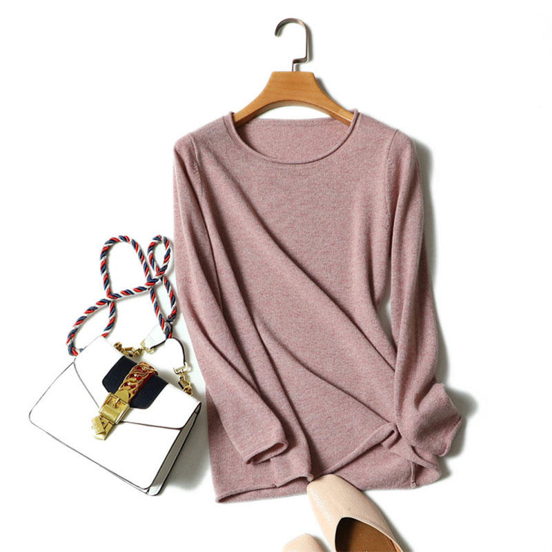 100% Pure Cashmere Woman Sweater Pullovers High Quality Long Sleeve Soft Cashmere Jumper Round Neck Knitted Sweater For Women c by bloomingdale s new navy long sleeve cowl neck cashmere sweater m $248 dbfl