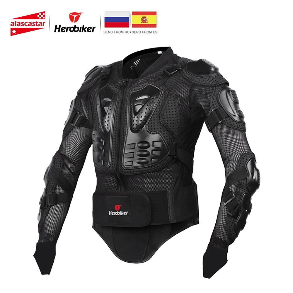 HEROBIKER chaqueta de la motocicleta de los hombres de cuerpo completo de la motocicleta armadura de carreras de Motocross equipo de protección de la motocicleta protección tamaño S-5XL