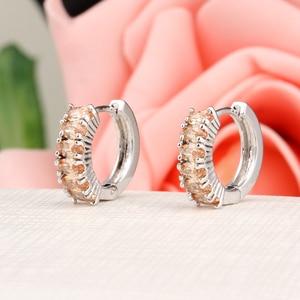 Женские серьги-кольца с кристаллами Hesiod, серьги серебристого цвета с фиолетовым прозрачным Цирконом класса ААА, подарок на Рождество