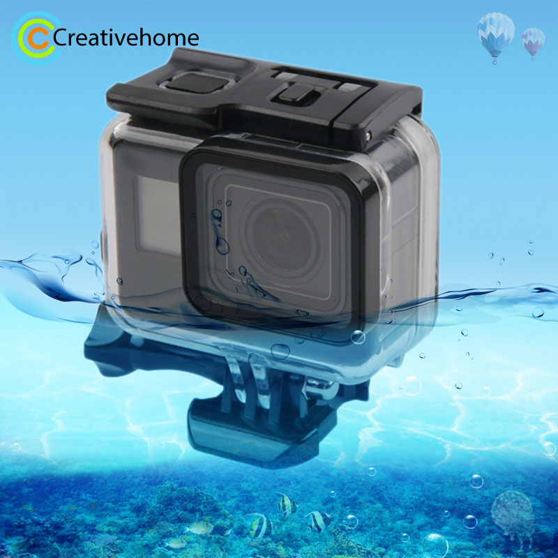 45m Waterproof Housing Protective Case + Touch Screen Back Cover for GoPro NEW HERO /HERO6 /5, with Buckle Basic Mount & Screw side open skeleton housing protective case cover mount for gopro hero 4 3 new z09 drop ship
