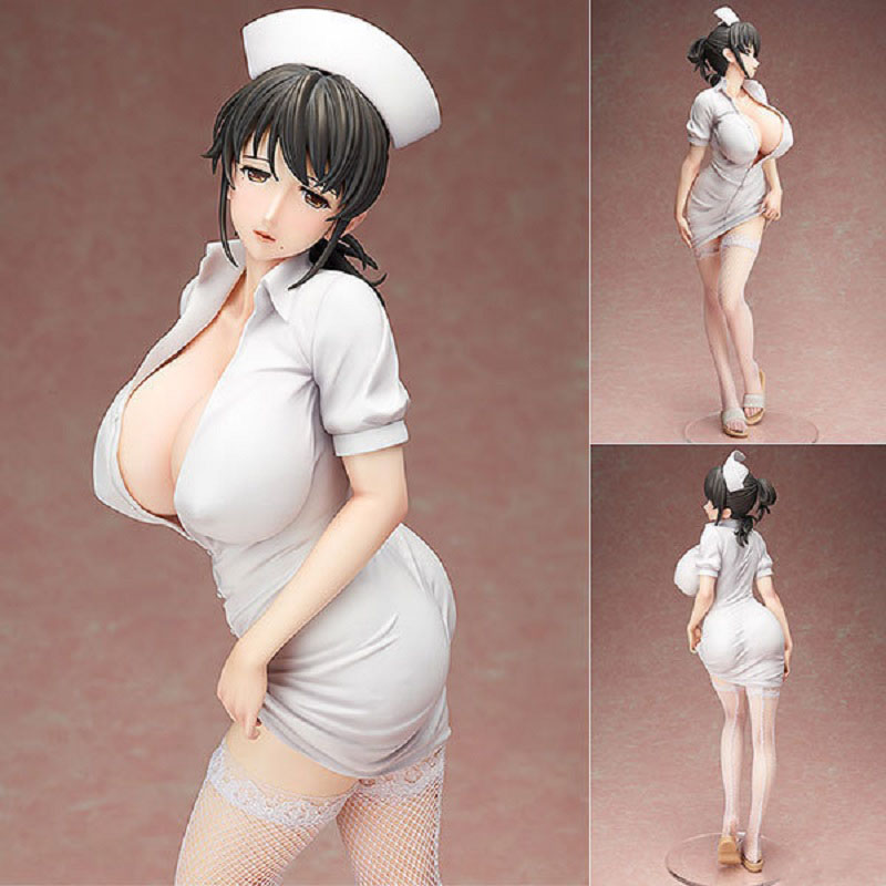 42cm Anime Akawa Asami Japanese Sexy Figure Nurse Action Figure Toy Hot Girl With Nurse Suit Collectible Doll Toys For Man цены