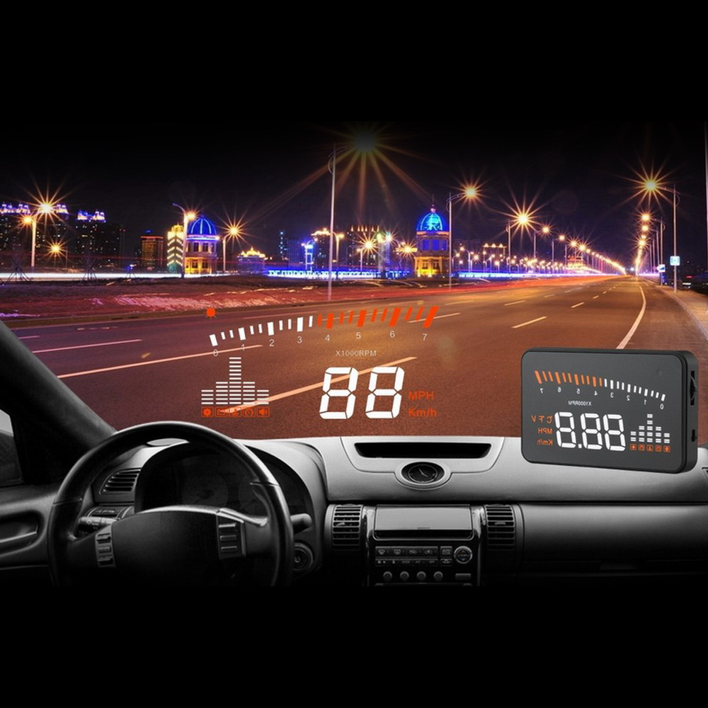 Image 2 - X5 Car Hud Head Up OBD 2 Display Digital Speedometer Overspeed Alarm Auto Windshield Projector OBD ii Car Electronics-in Head-up Display from Automobiles & Motorcycles