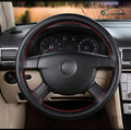 Durable in use Car Steering Wheel Cover/DIY Hole Digging Breathable  Leather  Steering-Wheel Covers Volante Cuero