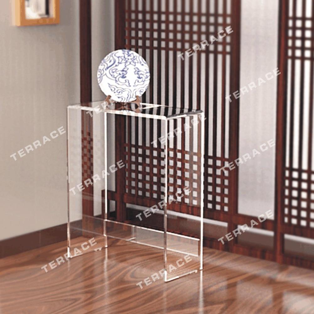 цена на Modern Style Acrylic narrow hallway table,lucite pedestal console desk