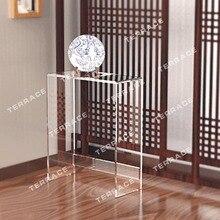 Modern Style  Acrylic narrow hallway table,plexiglass lucite pedestal console desk