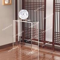 Modern Style Acrylic narrow hallway table,lucite pedestal console desk