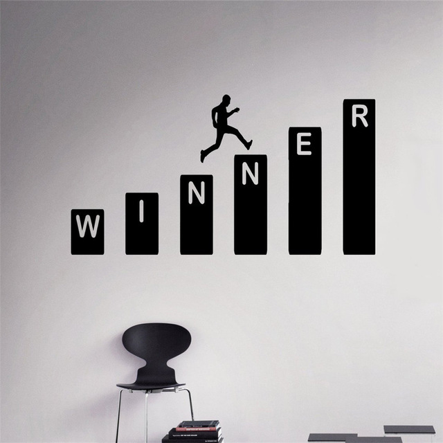 Business winner wall decal growth vinyl sticker home interior office wall decor art mural housewares design in wall stickers from home garden on