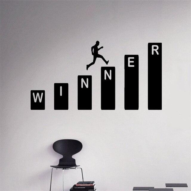 Business Winner Wall Decal Growth Vinyl Sticker Home Interior Office Wall Decor Art Mural Housewares Design