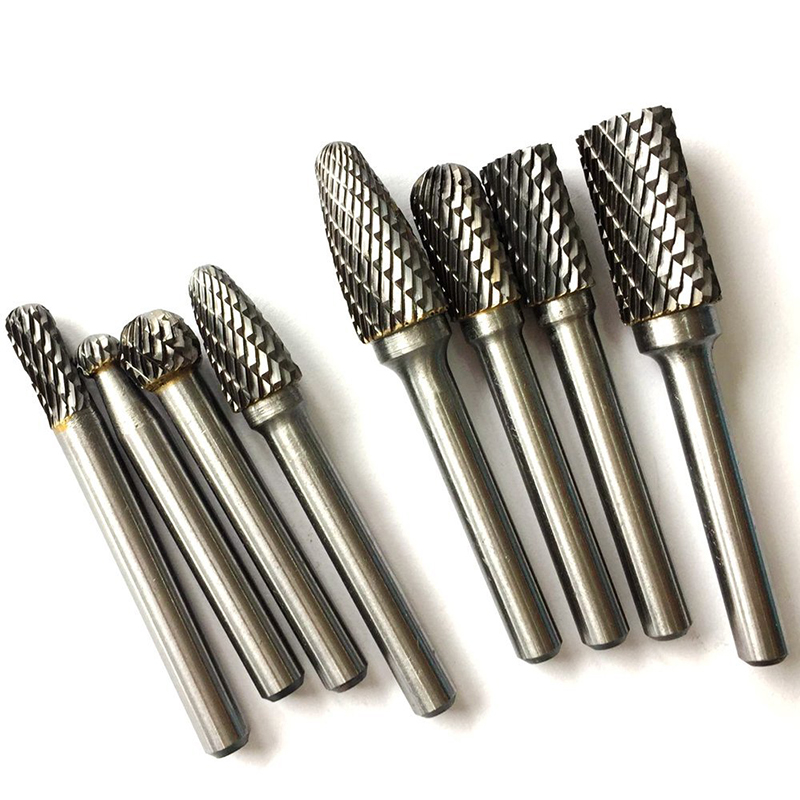 10pcs 1/8'' Shank Tungsten Carbide Rotary Burr Set Fit Dremel Tools for DIY Woodworking Carving Engraving Drilling  6mm Head new 10pcs jobbers mini micro hss twist drill bits 0 5 3mm for wood pcb presses drilling dremel rotary tools