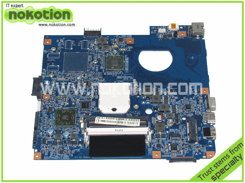 NOKOTION MBPU501001 laptop motherboard for ACER ASPIRE 4551 48.4HD01.031 HD4200 DDR3 Mainboard Mother boards free cpu