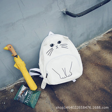 Новая горячая студент мешок милый кот creative сумка рюкзак большой емкости мульти-выбор цвета популярны милый подарок девушка
