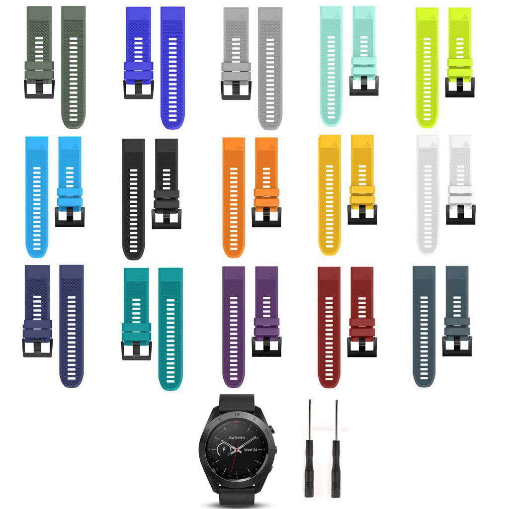 Silicone Quick Release Easy Fit Band Strap for Garmin Approach S60/Fenix 5/Forerunner 935 GPS Smart Watch Replacement Wrist band image