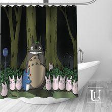 Hot Custom My Neighbor Totoro Shower Curtains Polyester Bathroom With Hook Bath Curtain Decor