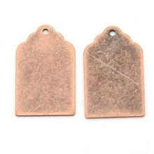 200pcs 21x12x0.5mm Metal Tags, Brass Blank Stamping Tag Jewelry Making DIY Findings Accessories Dangling Pendants, Hole: 1mm
