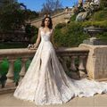 New Arrival Detachable White Lace Mermaid Wedding Dresses Design Appliques Lace Beaded Sashes Court Train Long Wedding Gowns