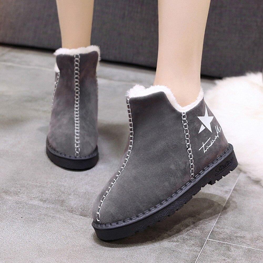 2018 Invierno De Zapatos Bottes Femme Negro Botas Nouveau gris Mujer nv5YSwxq