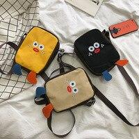 2019 Japanese canvas bag Messenger bag cute cute chicken girl shoulder Korean version of the student wild purse tide