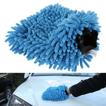 Auto Car Wash Glove Blue Fiber Chenille Microfiber Car Cleaning Soft Towel Anthozoan Washer Car Care Detailing Cleaning Gloves