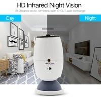 HD Panoramic Wifi Monitor Camera Infrared Night Vision Video Surveillance Camera Home Security Rainproof Baby Monitor