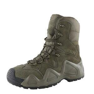 Image 4 - Botas tácticas militares para hombre, zapatos de senderismo impermeables para exteriores, zapatillas antideslizantes, calzado deportivo para escalada