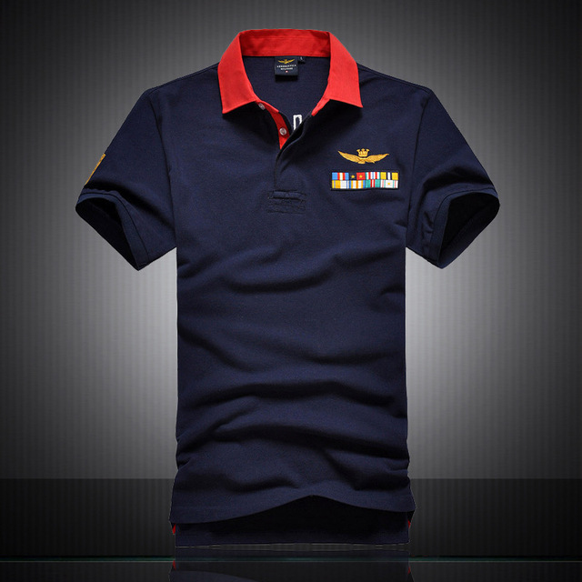 High quality Fashion perfect embroidery casual shirt aeronautica militare men air force one short man Shirts ones 1