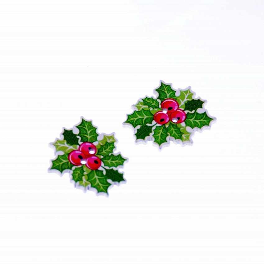 Frete grátis 50 pçs misturados aleatórios 2 buracos natal costura botões de madeira scrapbooking 32x27mm f1046