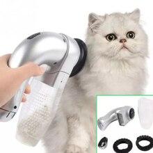 Электрический для кота собаки домашнего животного гребень Вакуумный Очиститель меха удаления волос ножницы для стрижки собак кошек Уход за лошадьми инструмент домашних животных автоматический поводок для собак аксессуары-кисти