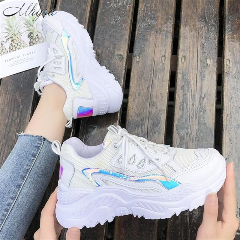 Mhysa 2019 Women Sneakers Fashion Casual Shoes Woman Comfortable Breathable Mesh Flats Female Platform Vulcanized Shoes T1092