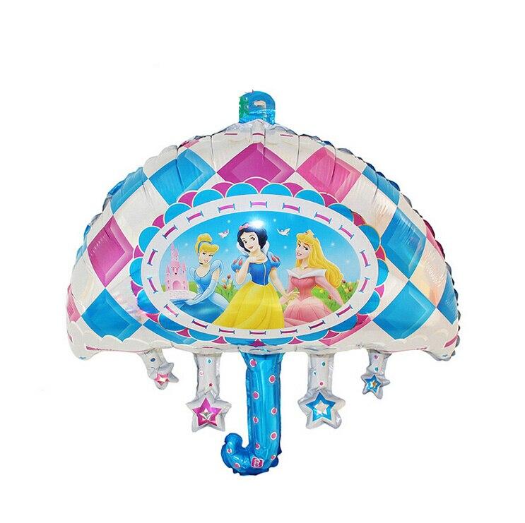 Small umbrella shape princess printed foil balloon inflatable fashion birthday b