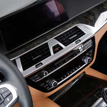 For BMW 5 Series G30 2017 2018 ABS Plastic Car Central Control air outlet cover trim sticker Interior accessories Car styling auto body outlet air conditioner automobile decorative chromium car styling sticker strip 11 12 13 14 15 16 17 for bmw 5 series