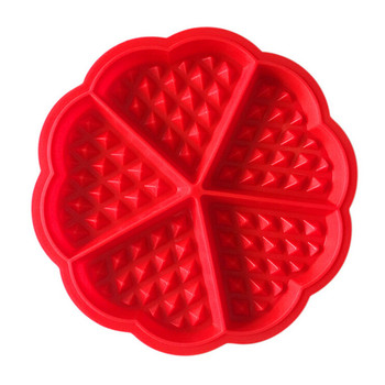silicone 5 Cavity waffle mold Thickened heart-shaped baking mold Pan Tray Muffin Cake Chocolate Mold Kitchen Baking Tools #YL