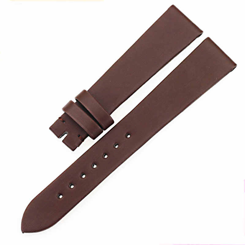Isunzun Baru Wanita Watch Band untuk Tissot 1853 T009.110/T009.310 Wanita Kulit Asli Tali Spun Yarn Watchband Watch Tali