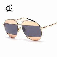 FEIDU модные женские туфли солнцезащитные очки Элитный бренд дизайн металла шить цвет объектива Солнцезащитные очки для женщин Óculos де золь UV400