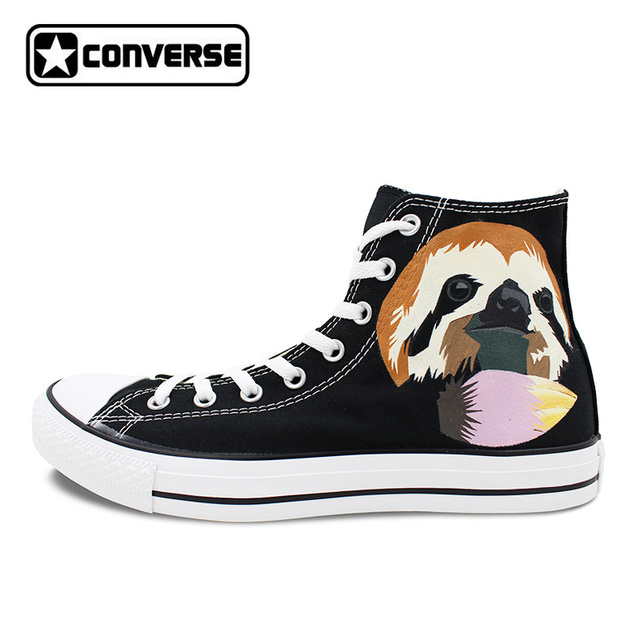High Top Canvas Shoes Women Men Converse Chuck Taylor Cute Sloth Original  Design Custom Hand Painted