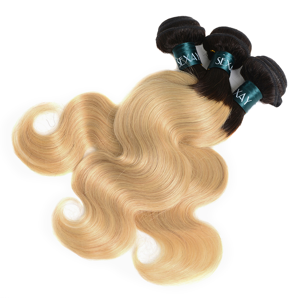 3/4 Bundles With Closure Generous Color 27 Bundles With Closure Honey Blonde Bundles With Closure Brazilian Hair Weave Straight Human Hair 3 Cheap Bundles
