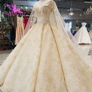Image 3 - Aijingyu 새로운 웨딩 드레스 결혼 착용 가운 신부 디자이너 최신 vintages 간단하고 가운 소녀 웨딩 드레스