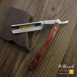 Бесплатная доставка бритва Titan с деревянной ручкой лезвие из нержавеющей стали для бритья острое