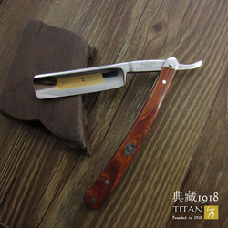 Spedizione gratuita Titan rasoio manico in legno in acciaio inox lama da barba sharp