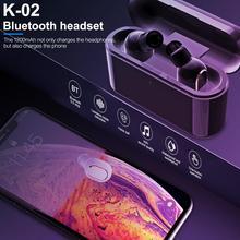 Rondaful Bluetooth V5.0 TWS True Wireless Earbuds Earphone + Charging Box Hi-Fi Stereo Sound Bilateral Calls Waterproof blitzwolf bw fye1 bluetooth v5 0 tws true wireless sport earphone tws earbuds hi fi stereo dual microphone w charging box