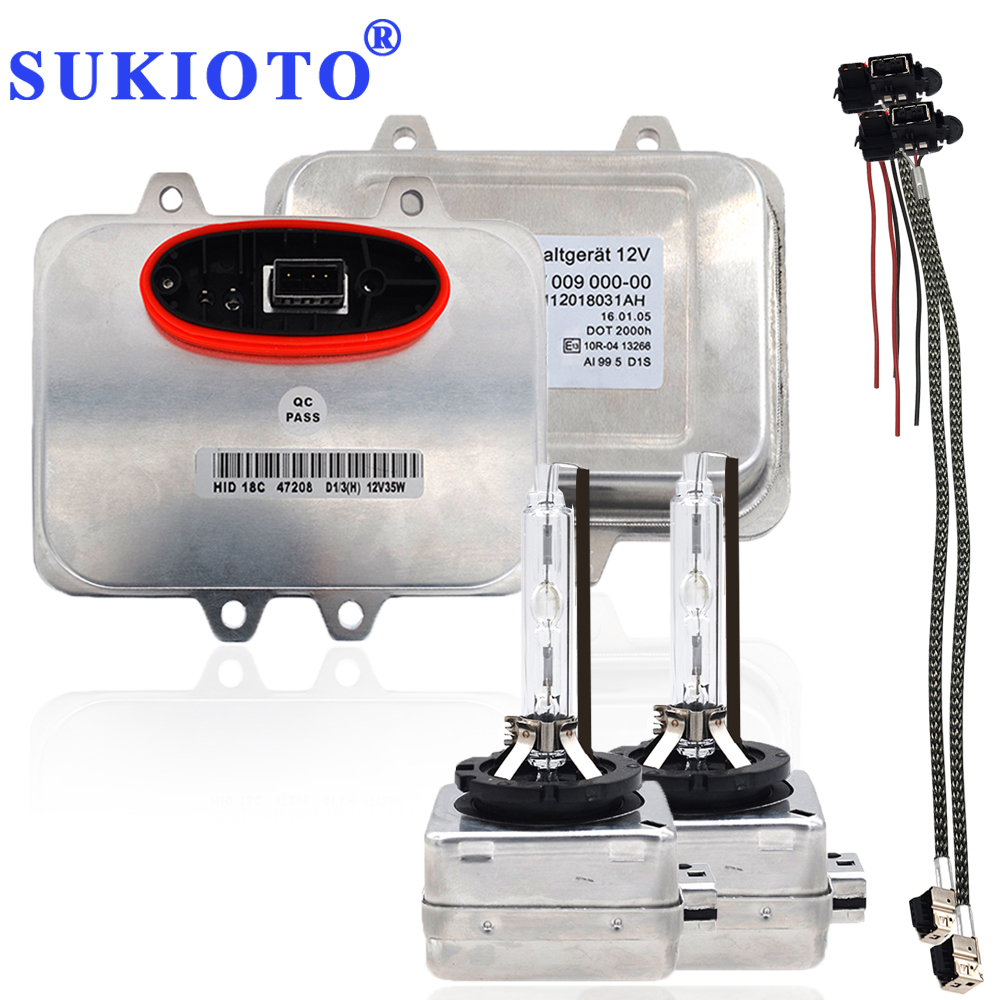SUKIOTO Original OEM D1S D1R Ballast 5DV 009 610-00 5DV009610-00 5DV00961000 Xenon Ballast Kits D1S ECU 12V For X5 X6 Headlights gztophid al xenon hid ballast oem for land rover 2003 2005 original parts unit controller igniter ecu d2s d2r d1s d1r