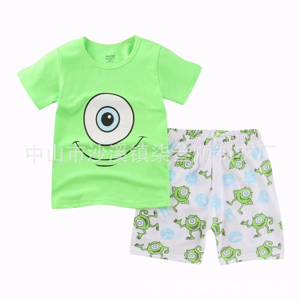 44ad1f3a9 2016 Summer Kids Boys Sleepwear Sets For Children s Pyjama Sets Car ...