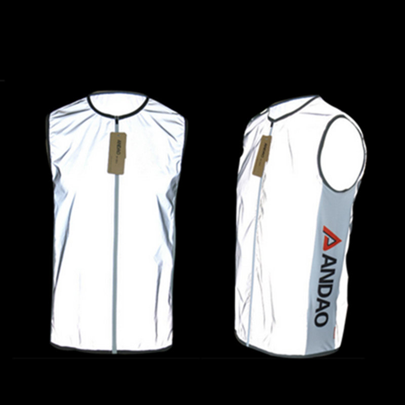 ФОТО 2016 Outdoor Sports Reflective Clothing Men Woman Sportswear Waistcoat Vest Safety Bicycle Cycling Jersey Reflective Vests Gilet