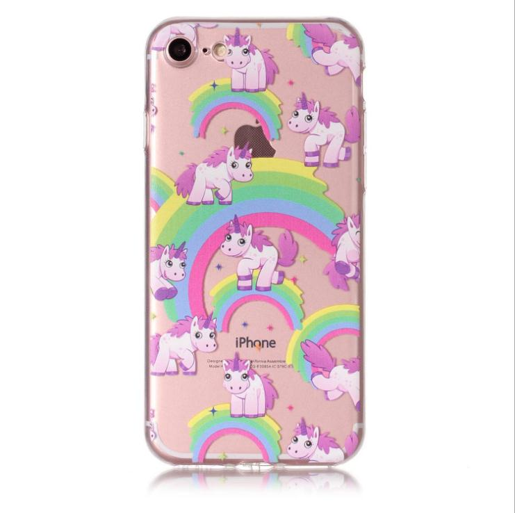 DOYAEL Bonito Pattern Phone Case TPU Macio Para iphoneX 6 7 8 8 7 plus plus XR XSmax 6 plus colorido Impresso de Volta Caso Capa capa