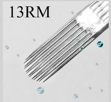 Box Of 50PCS 13RM Curved Round Magnum Sterile Disposable Tattoo Needles Supply — 1213RM