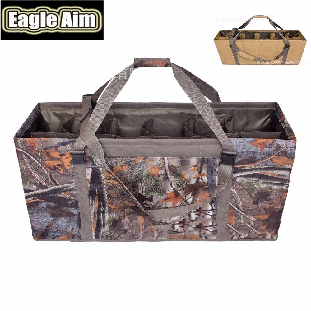 Le nouveau sac de leurre de canard réaliste à 12 fentes bandoulière réglable pour sac de chasse à la dinde et au canard d'oie