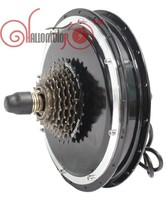 ConhisMotor FREE TAX EU 36V 48V 1200W Brushless Gearless Threaded Rear Hub Motor for Ebike Wheel With Single 6 or 7 Speed Gear