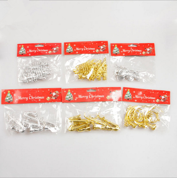 Christmas decorations Musical Instruments trumpet Christmas scene layout  props pipe props small Christmas tree ornaments - Christmas Decorations Musical Instruments Trumpet Christmas Scene