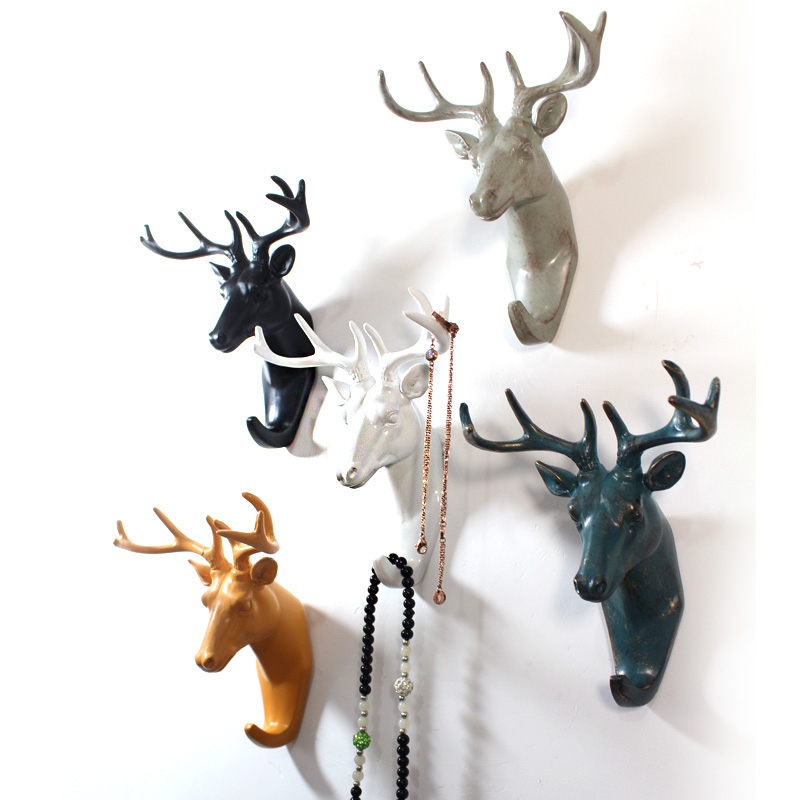 European Animal Head Hanging Creative Home Accessories Resin Coat Hooks  Decorative Wall Hooks Hanger In Robe Hooks From Home Improvement On  Aliexpress.com ...
